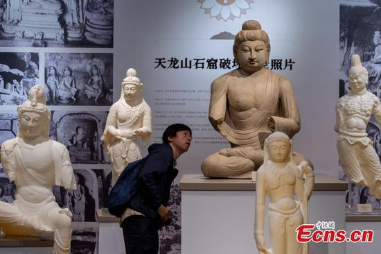 Taiyuan exhibition shows digital restoration of statues