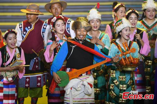 Farmers and herdsmen celebrate 70th PRC anniversary in Lhasa