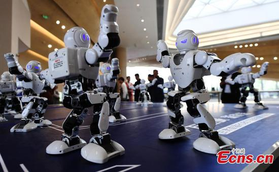 More than 100 robots on show at Gansu exhibition